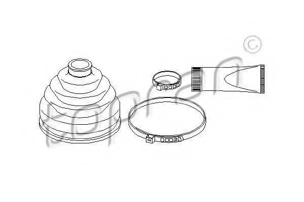 TOPRAN 108931 Комплект пылника, приводной вал