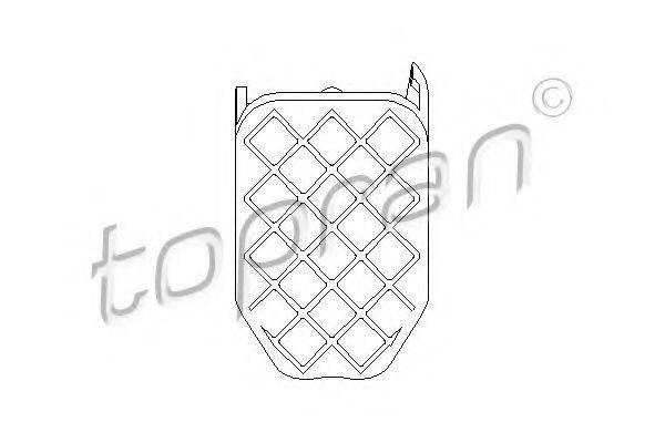 TOPRAN 112248 Педальные накладка, педаль тормоз