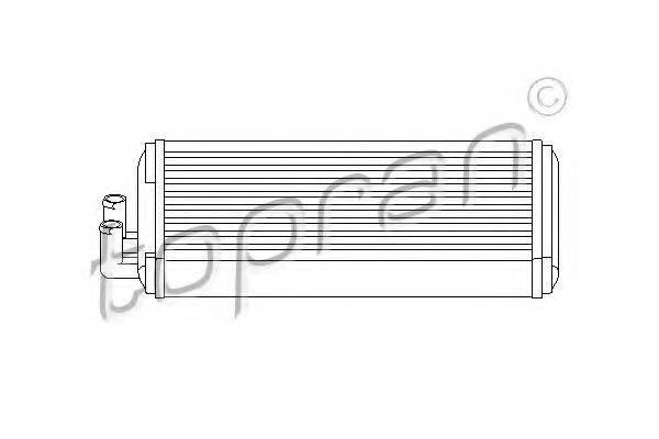 TOPRAN 103705 Теплообменник, отопление салона