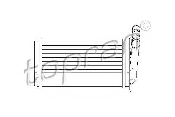 TOPRAN 107407 Теплообменник, отопление салона