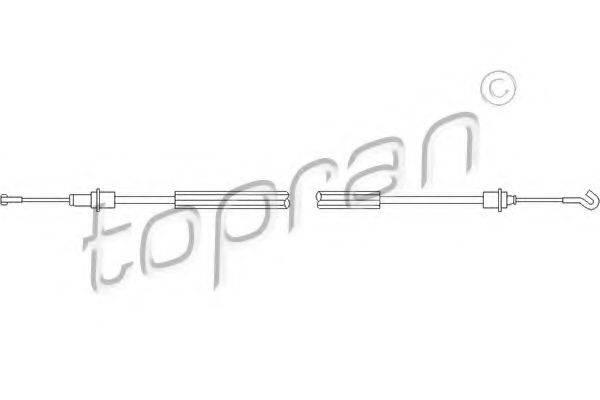 TOPRAN 109452 Трос, замок двери