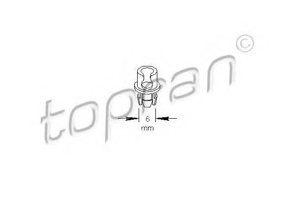 TOPRAN 109034 Зажим, молдинг / защитная накладка