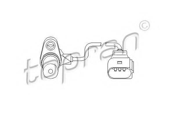 TOPRAN 112109 Датчик частоты вращения, управление двигателем