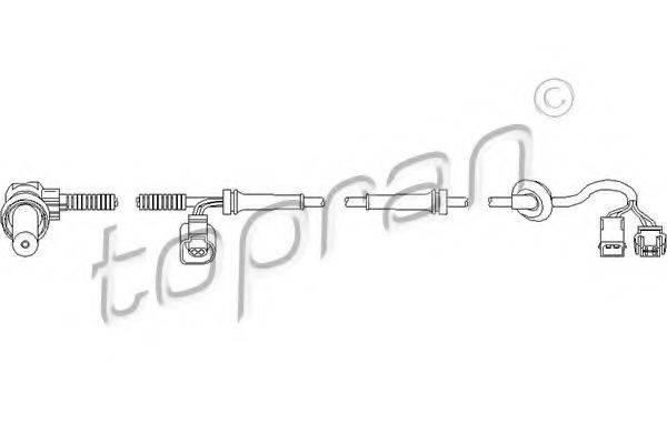 TOPRAN 109756 Датчик, частота вращения колеса