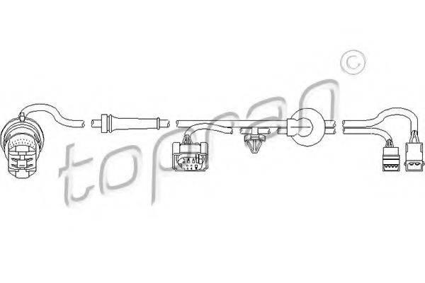 TOPRAN 110487 Датчик, частота вращения колеса