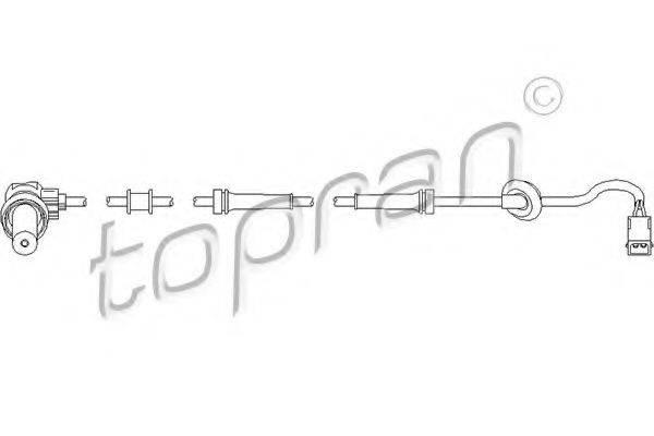 TOPRAN 109757 Датчик, частота вращения колеса