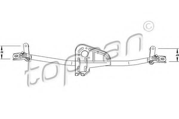 TOPRAN 110695 Система тяг и рычагов привода стеклоочистителя