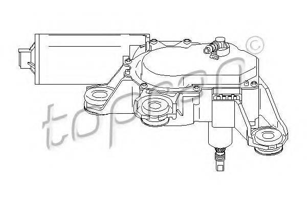 TOPRAN 110741 Двигатель стеклоочистителя