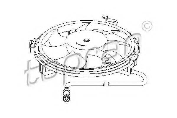 TOPRAN 107722 Вентилятор, охлаждение двигателя