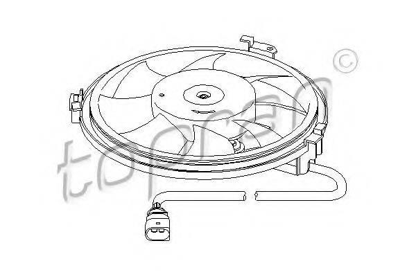 TOPRAN 110830 Вентилятор, охлаждение двигателя