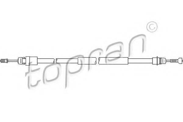 TOPRAN 207369 Трос, стояночная тормозная система
