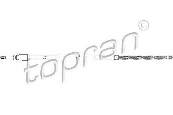 TOPRAN 207372 Трос, стояночная тормозная система
