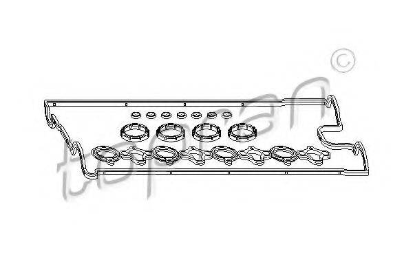 TOPRAN 207052 Комплект прокладок, крышка головки цилиндра