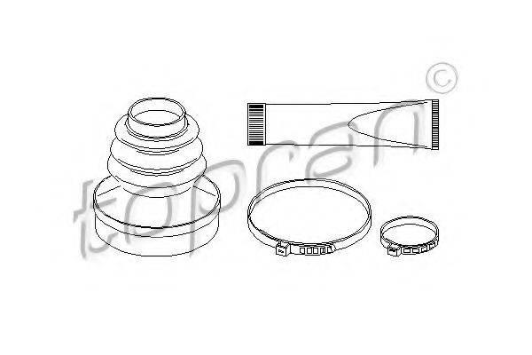 TOPRAN 721159 Комплект пылника, приводной вал
