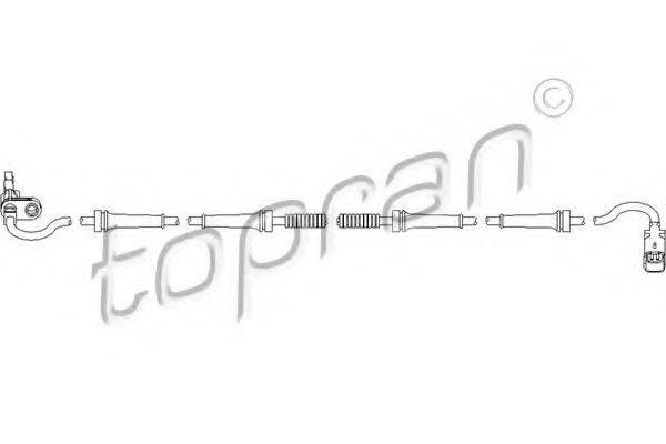 TOPRAN 722099 Датчик, частота вращения колеса