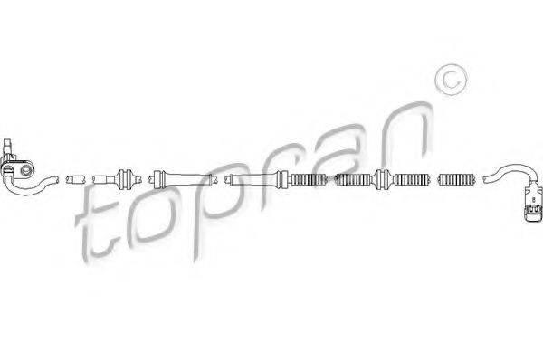TOPRAN 722100 Датчик, частота вращения колеса