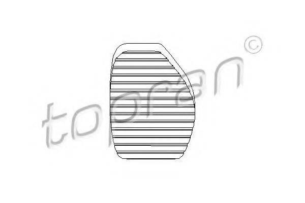 TOPRAN 721931 Накладка на педаль, педаль сцепления