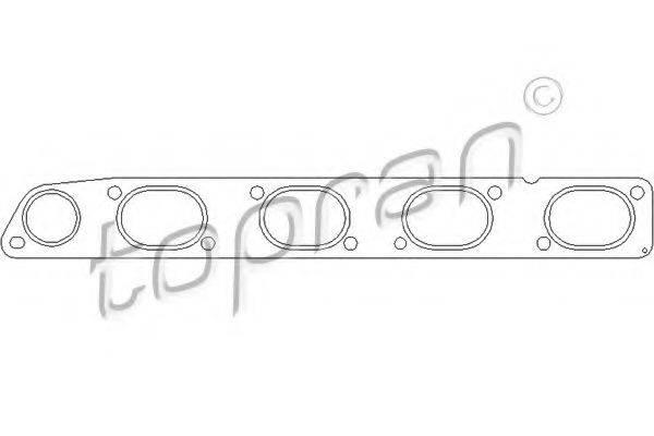 TOPRAN 207703 Прокладка, выпускной коллектор