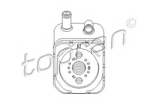 TOPRAN 112860 масляный радиатор, двигательное масло