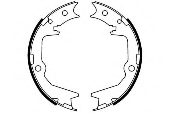 E.T.F. 090666 Комплект тормозных колодок; Комплект тормозных колодок, стояночная тормозная система