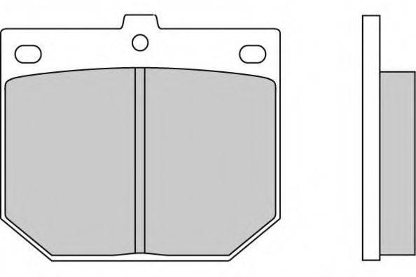 E.T.F. 120078 Комплект тормозных колодок, дисковый тормоз