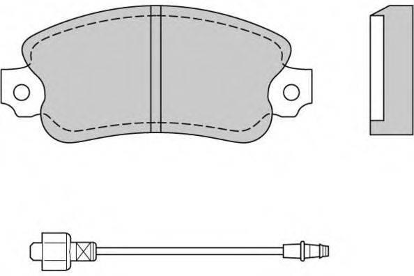 E.T.F. 120127 Комплект тормозных колодок, дисковый тормоз