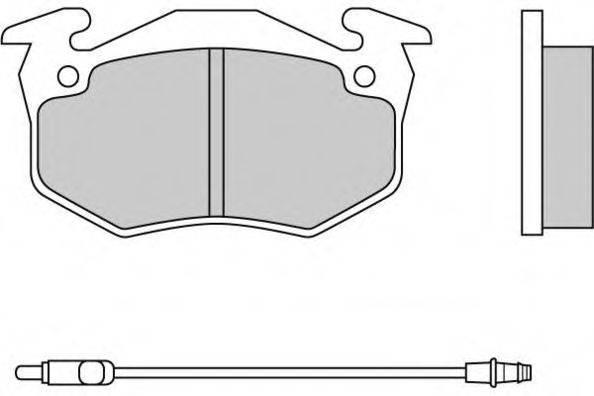 E.T.F. 120229 Комплект тормозных колодок, дисковый тормоз