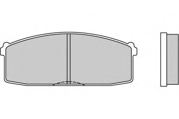 E.T.F. 120237 Комплект тормозных колодок, дисковый тормоз