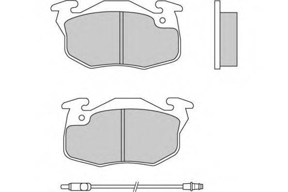 E.T.F. 120269 Комплект тормозных колодок, дисковый тормоз