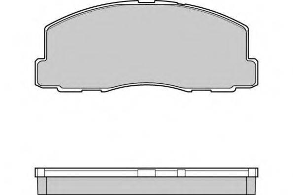 E.T.F. 120299 Комплект тормозных колодок, дисковый тормоз
