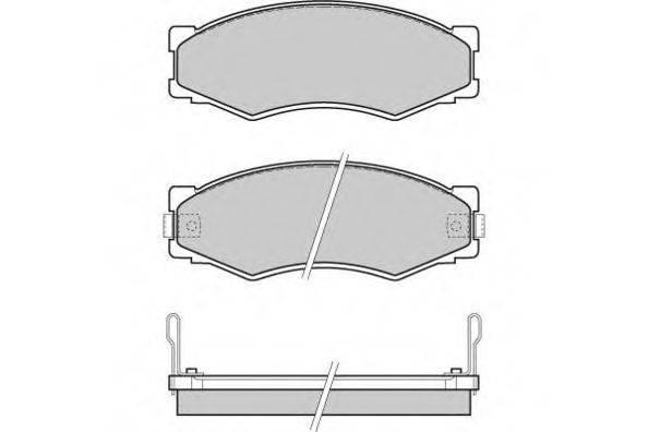 E.T.F. 120301 Комплект тормозных колодок, дисковый тормоз