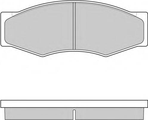 E.T.F. 120302 Комплект тормозных колодок, дисковый тормоз