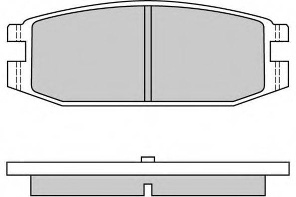 E.T.F. 120331 Комплект тормозных колодок, дисковый тормоз