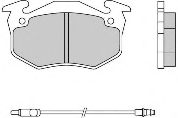 E.T.F. 120334 Комплект тормозных колодок, дисковый тормоз