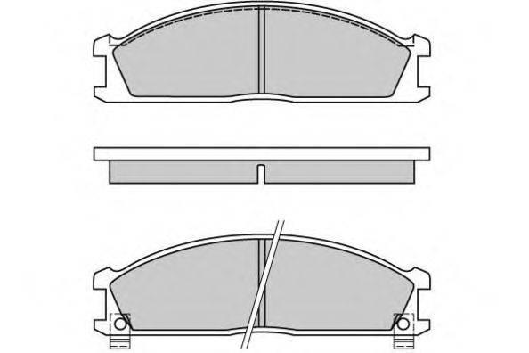 E.T.F. 120370 Комплект тормозных колодок, дисковый тормоз