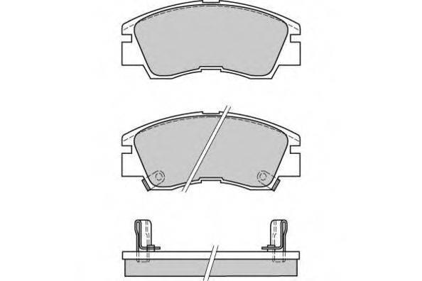 E.T.F. 120387 Комплект тормозных колодок, дисковый тормоз