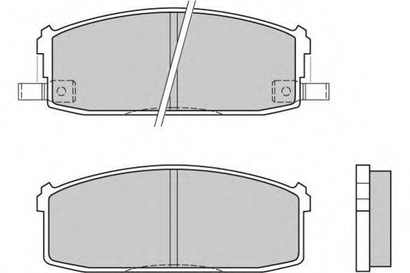 E.T.F. 120510 Комплект тормозных колодок, дисковый тормоз