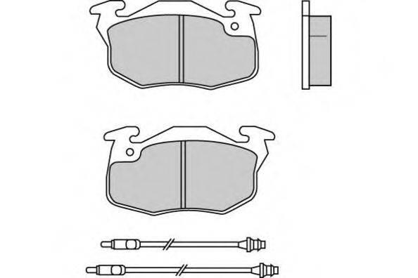 E.T.F. 120550 Комплект тормозных колодок, дисковый тормоз
