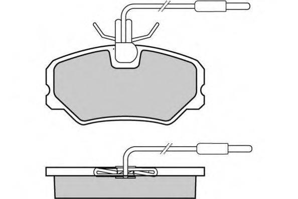 E.T.F. 120646 Комплект тормозных колодок, дисковый тормоз
