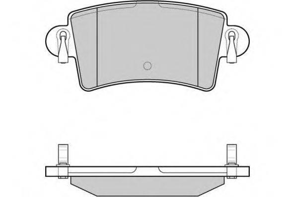 E.T.F. 121074 Комплект тормозных колодок, дисковый тормоз