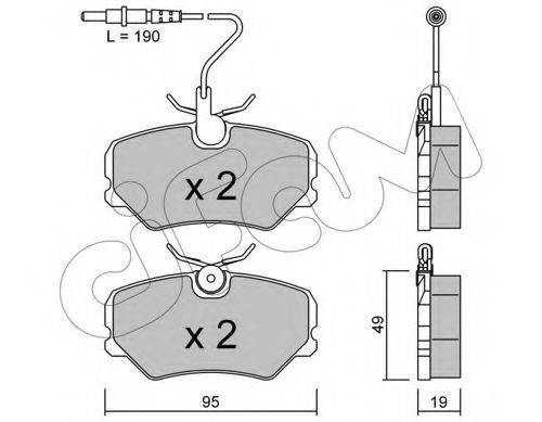 CIFAM 8220990 Комплект тормозных колодок, дисковый тормоз