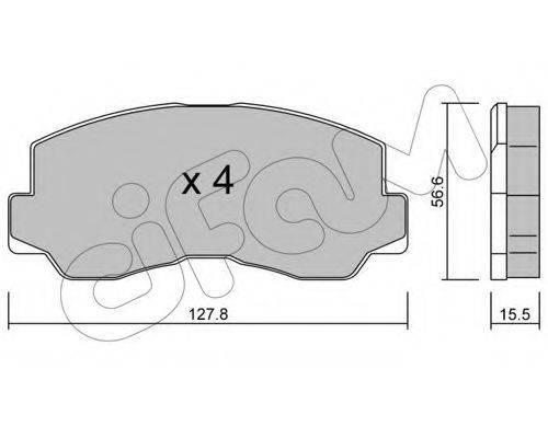 CIFAM 8221120 Комплект тормозных колодок, дисковый тормоз