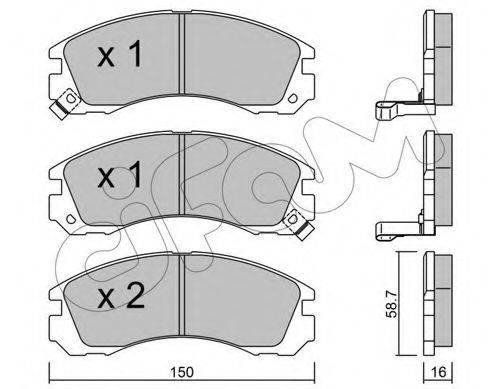 CIFAM 8221340 Комплект тормозных колодок, дисковый тормоз