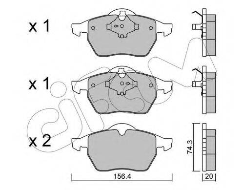 CIFAM 8221811 Комплект тормозных колодок, дисковый тормоз