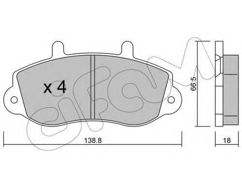 CIFAM 8222640 Комплект тормозных колодок, дисковый тормоз