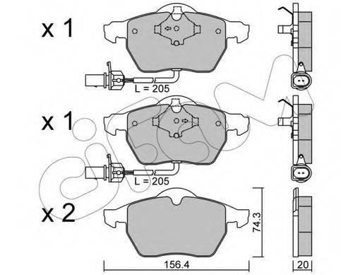 CIFAM 8223140 Комплект тормозных колодок, дисковый тормоз