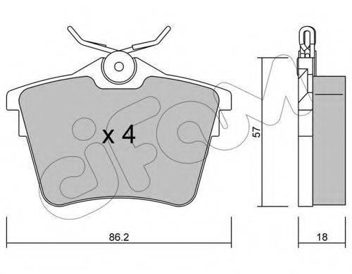 CIFAM 8226020 Комплект тормозных колодок, дисковый тормоз