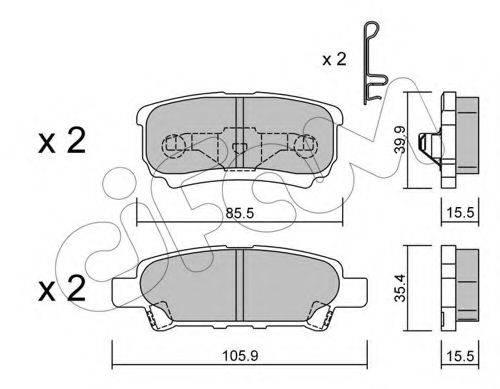 CIFAM 8227370 Комплект тормозных колодок, дисковый тормоз