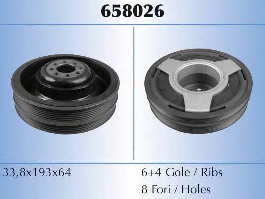 MALO 658026 Ременный шкив, коленчатый вал