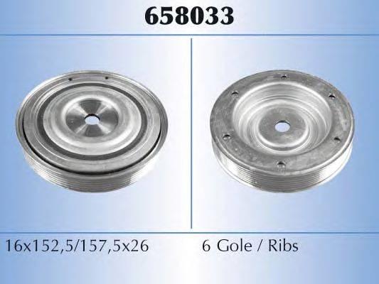 MALO 658033 Ременный шкив, коленчатый вал